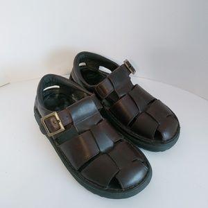 VTG Men's Skechers Brown Leather Slip Ons Sandal